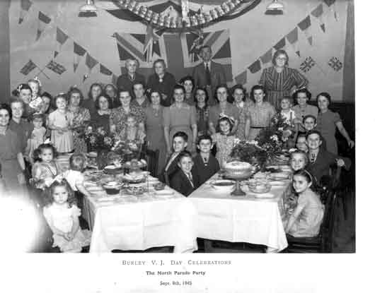 1945 VJ Party North Parade, Burley in Wharfedale.