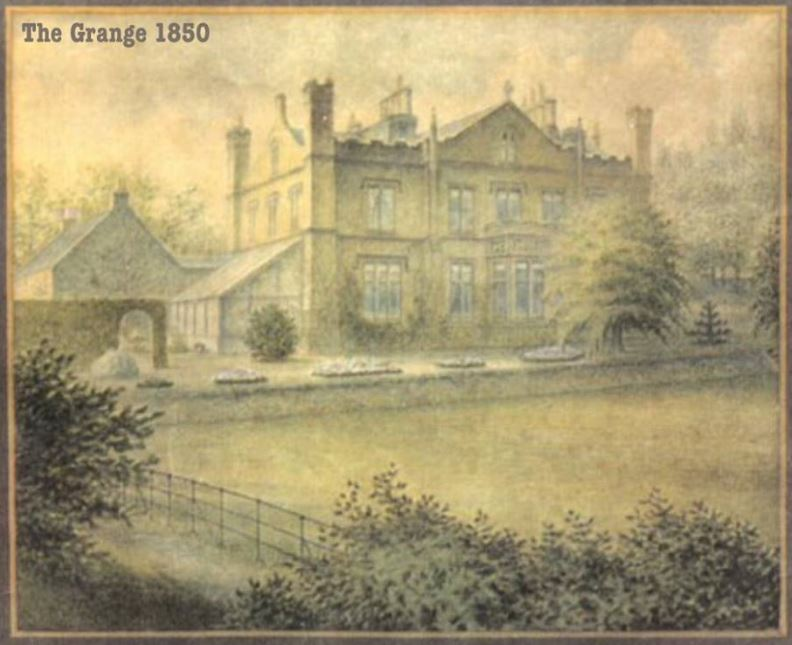 Burley Grange, Burley in Wharfedale - watercolour 1850s.