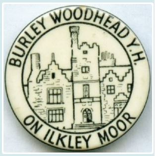 Burley Woodhead Youth Hostel 25mm White Button Badge