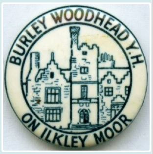 Burley Woodhead Youth Hostel 25mm Blue Button Badge