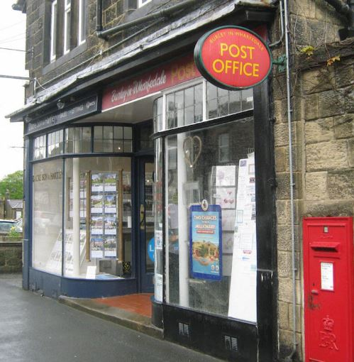 Burley in Wharfedale Post Office & Dacre Son & Hartley Estate Agents, Station Road, Burley in Wharfedale - 2016.