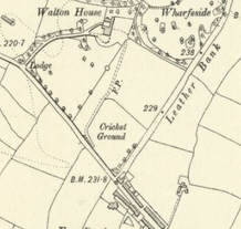 Burley in Wharfedale Clarence Cricket Ground OS Map 1909