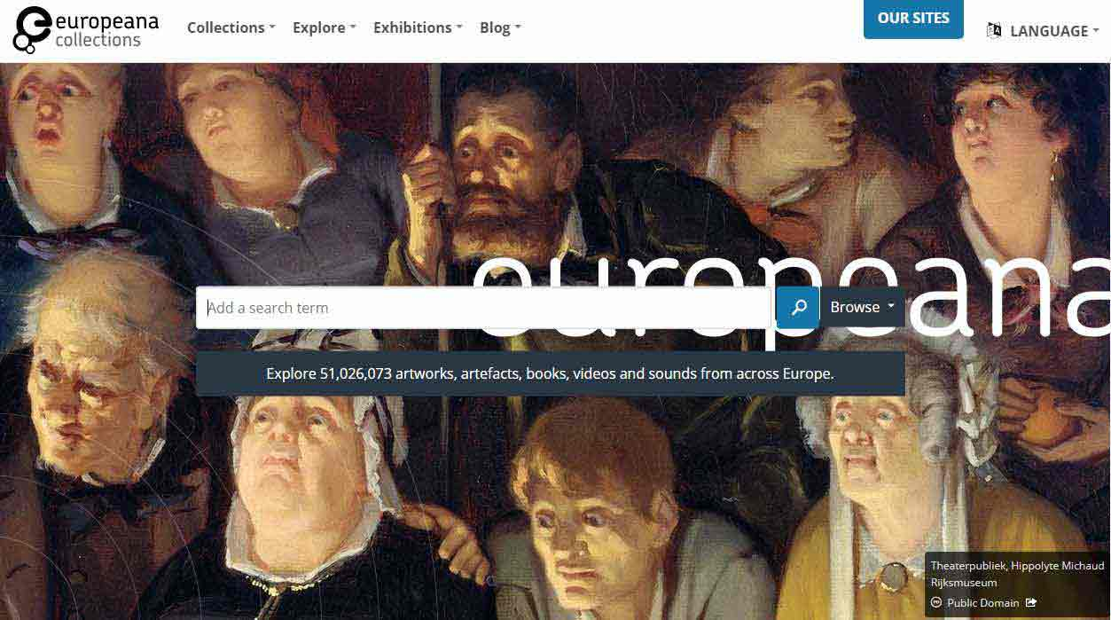Europeana Collections website