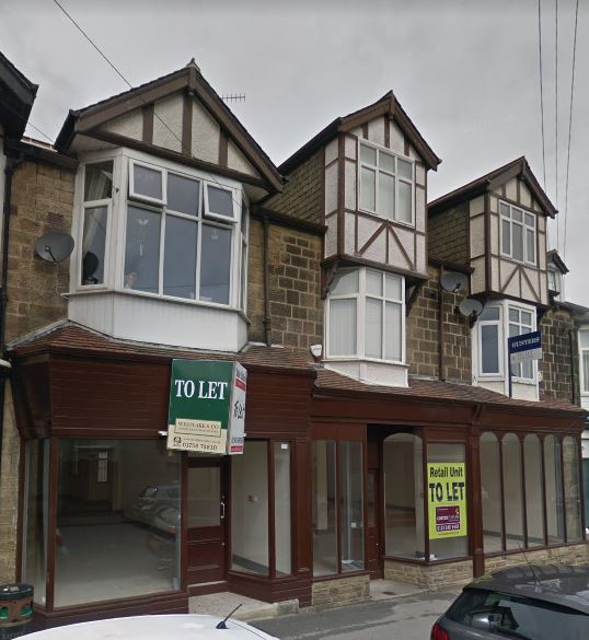 Ex Co-Op To Let, 38 - 42 Station Road, Burley in Wharfedale - 2017.