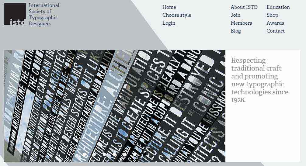 International Society of Typographic Designers website