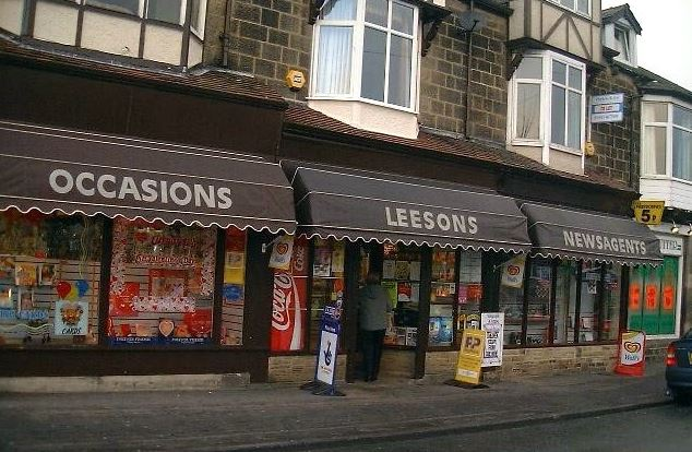Leesons Newsagents, 40 Station Road, Burley in Wharfedale.
