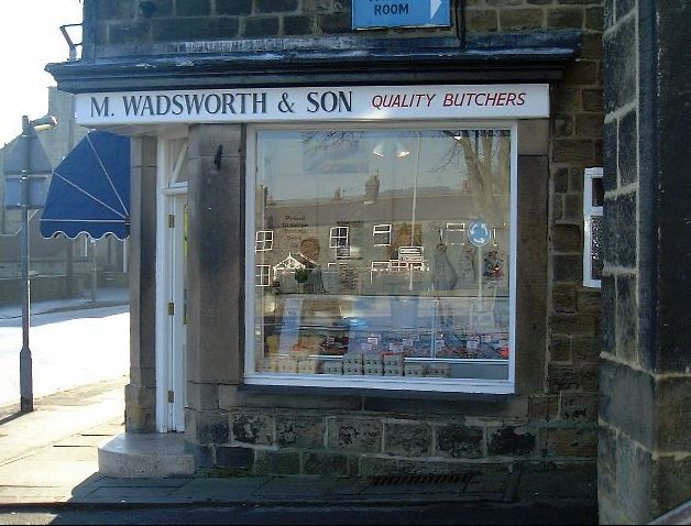 Malcolm Wadsworth & Son Butchers, Station Road, Burley in Wharfedale.
