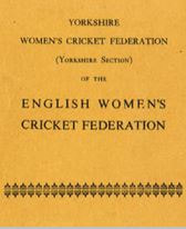 Cover of Yorkshire Women's Cricket Federation Rule Book